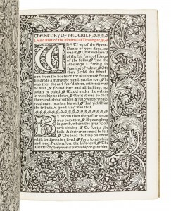 The Tale of Beowulf Kelmscott Press