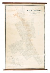 San Bruno wall map
