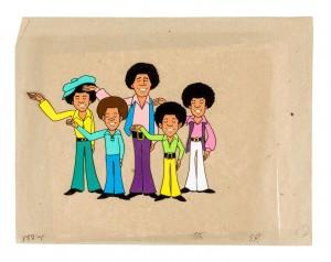 The Jackson Five animation cel