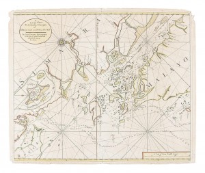 1711 Rare Chart of the Straits of Singapore
