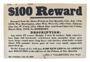 Wells Fargo Wanted Poster