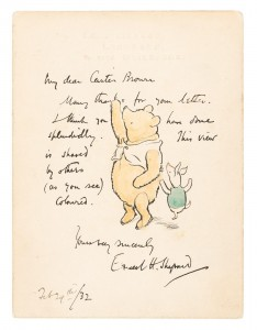Original drawing of Winnie the Pooh