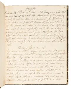 Handwritten Diary by Montana Miner