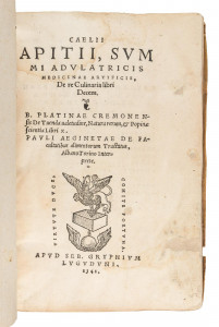 Apicius – First edition of the First Cookbook