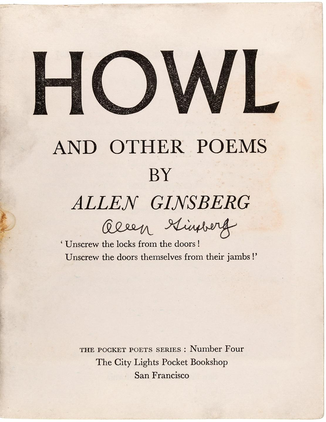 review of allen ginsbergs poem the howl What is the poem howl by allen ginsberg about  when will howl by allen ginsberg enter the public domain what inspired allen ginsberg in writing the howl poem.