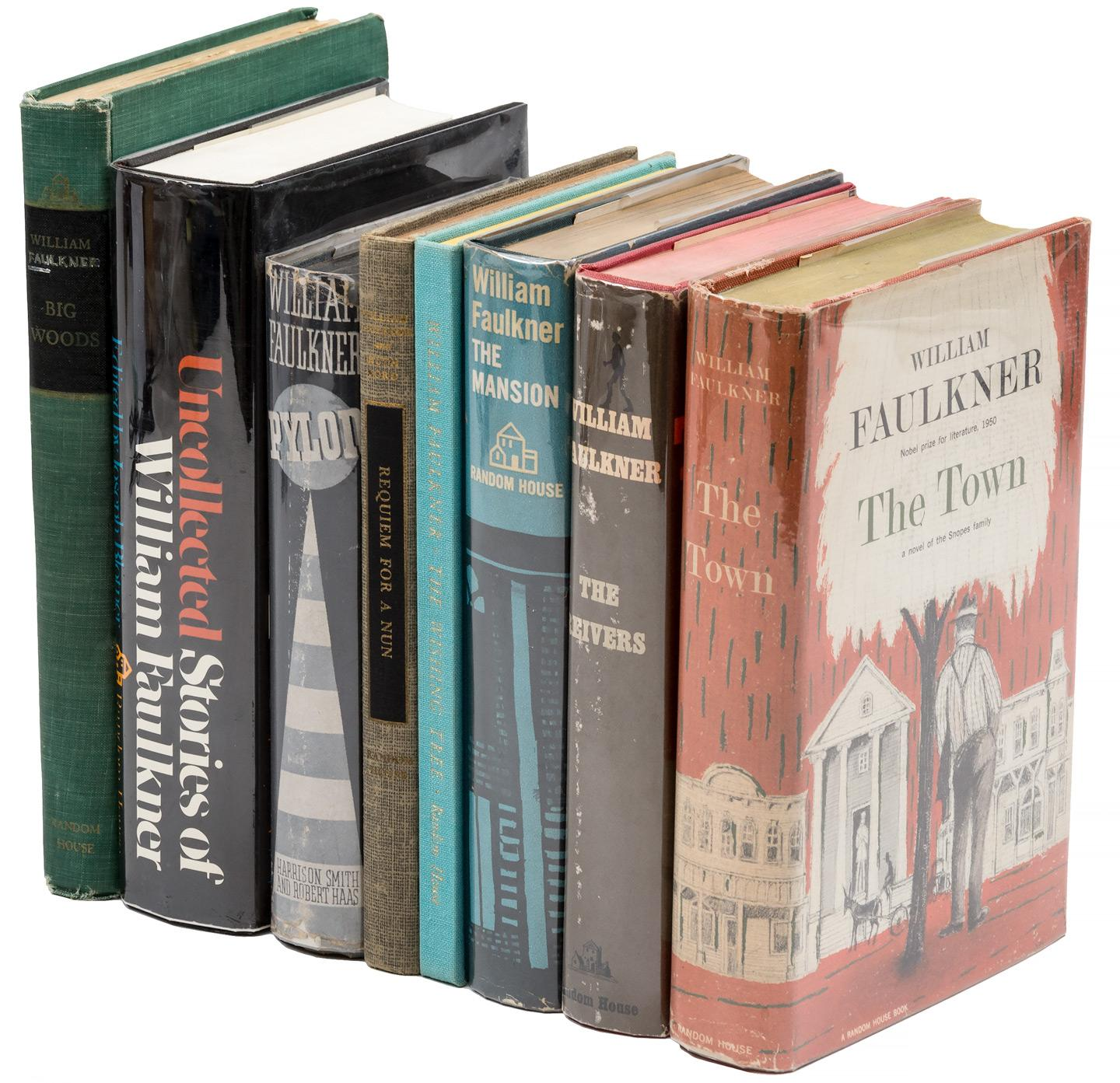 lot: 11 WILLIAM FAULKNER paperback books
