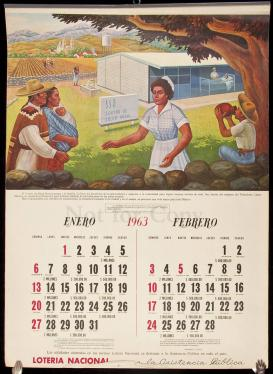 Calendario 1963.Calendario 1963 Mexican Calendar With Art By Salvador Almarza