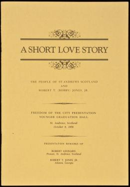 A Short Love Story: The People of St  Andrews Scotland and