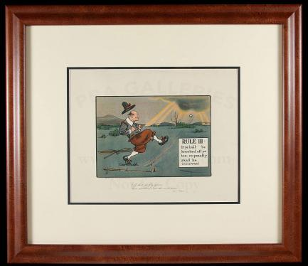Collection of 22 framed lithographs from Charles Crombie\'s Rules of ...