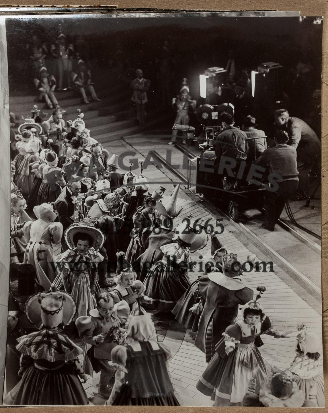 Production still of a dolly shot in The Wizard of Oz