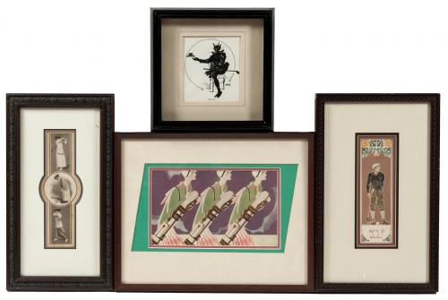 eighteen small framed prints of golf art price estimate 100 150