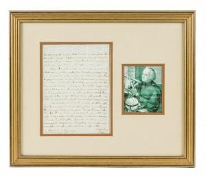 Autograph Giuseppe Piazzi letter
