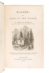 Sale 613 Lot 288  Thoreau's Walden
