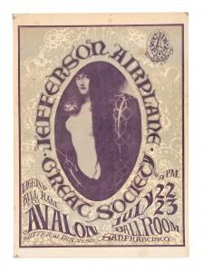 Jefferson Airplane 1966 Poster