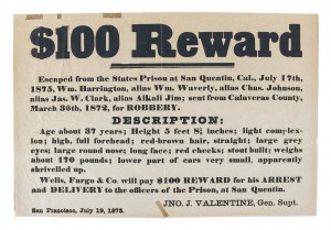 Wells Fargo Wanted Poster