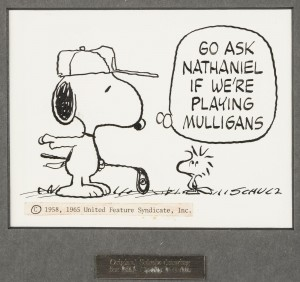 Original Snoopy cartoon drawing