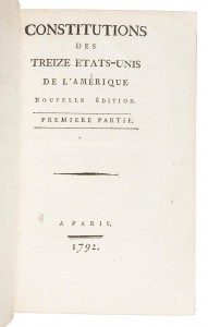 1st French edition of US Constitution