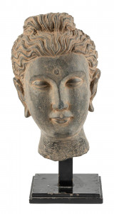 Sculpture of the head of Buddha