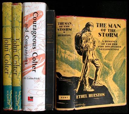 Lot of seven volumes on John Colter