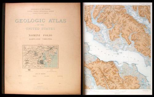 Large lot of United States Geological Survey Folio atlases