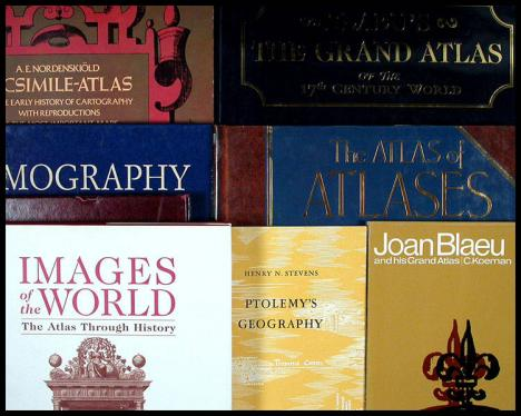 Lot of eight volumes on atlases