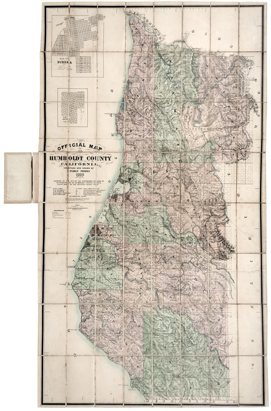 Official Map Of Humboldt County California Compiled And Drawn By