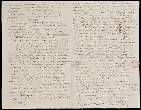 Autograph Letter Signed - 1843 Preeminent western scholar of Chinese...