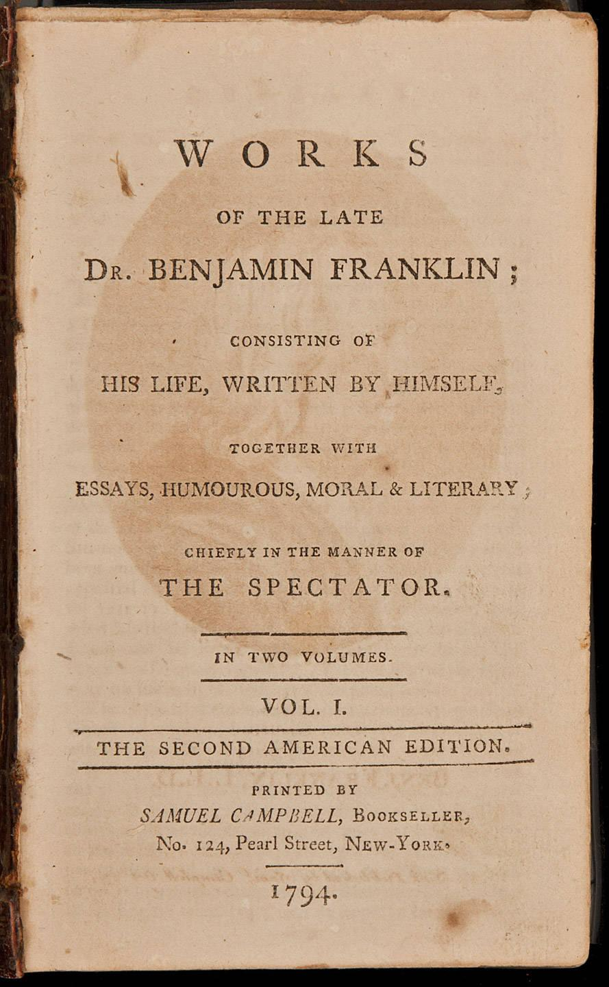 Essay On Myself In English Works Of The Late Dr Benjamin Franklin Consisting Of His Life Written By  Himself Together With Essays Humorous Moral  Literary Chiefly In The  Manner  Healthy Eating Essay also Business Essays Samples Works Of The Late Dr Benjamin Franklin Consisting Of His Life  Essay On Healthy Foods