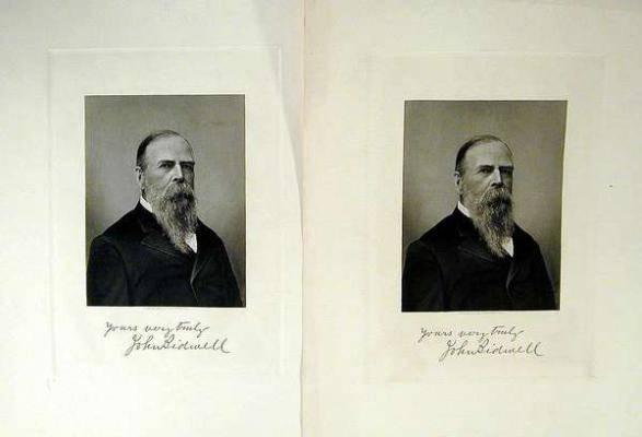 Two Identical Steel Engraved Portraits Of John Bidwell Price Estimate 150 250