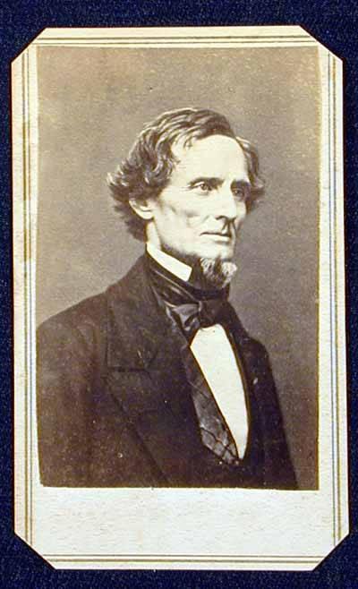 Carte De Visite Portrait Of Jefferson Davis