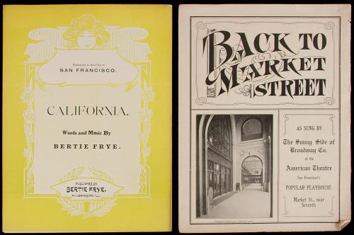 Two pieces of San Francisco sheet music