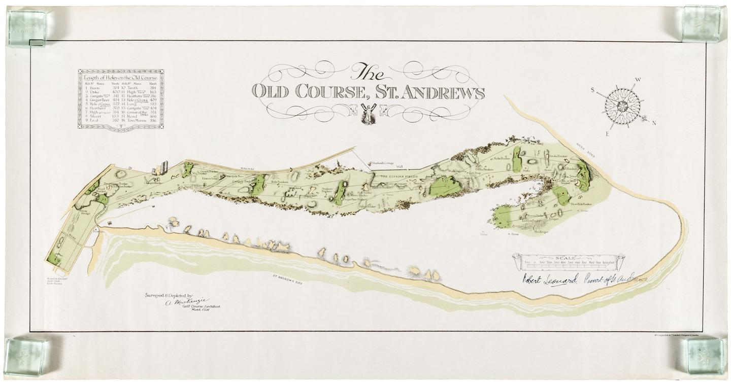 The Old Course, St. Andrews, Surve & Depicted by A ... Golf Courses In Scotland Map on gleneagles scotland map, golf in england map, airports in scotland map, scottish golf map, distilleries in scotland map, uk golf map, golf courses in london, beaches in scotland map, golf resort map, lakes in scotland map, st andrews golf course map, castles in scotland map,