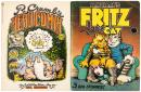 Two volumes of R. Crumb comics, one signed by Paul Krassner