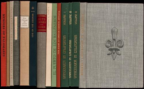Collection of books from Glen Dawson's Early California Travel Series