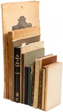 Sixteen volumes of fine press books on art, architecture, sculpture, poetry...