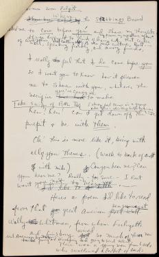 Autograph manuscript of a lecture by Kesey with a section devoted to...