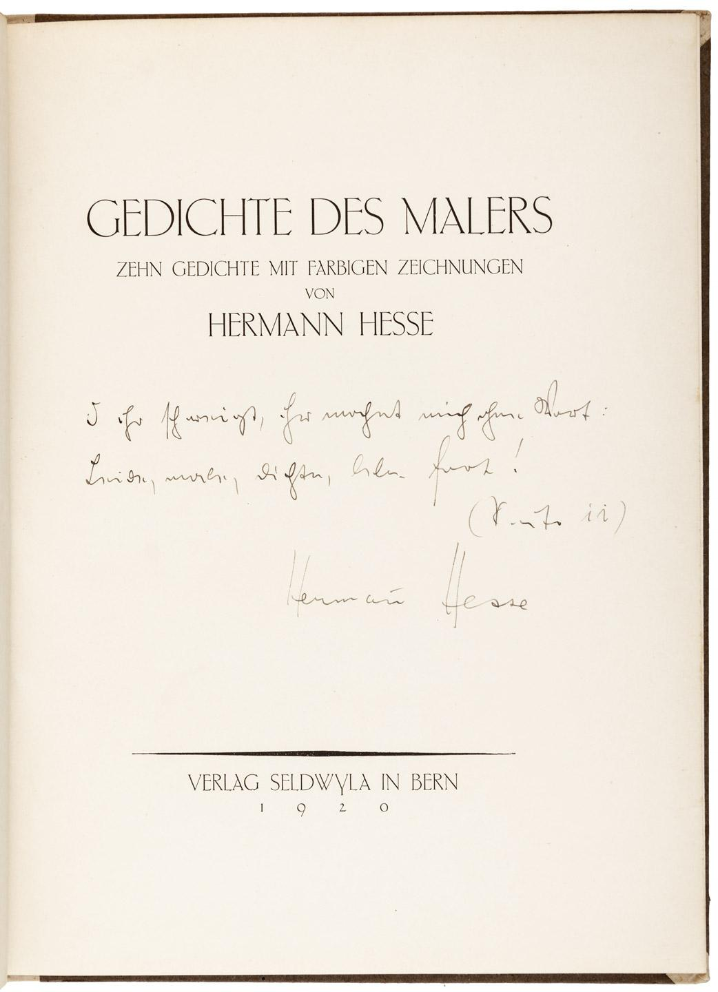 Gedichte Des Malers Poems Of The Painter Price Estimate