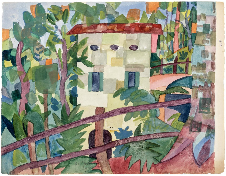 Fine watercolor art for sale - Two Original Watercolor Paintings By Hermann Hesse Price Estimate 10000 15000