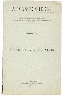1902 Eminent Black scholar Kelly Miller on Education of the Negro, rare...