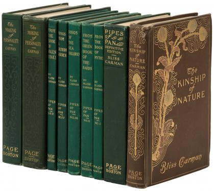 Collection of works by Bliss Carman, many signed or inscribed copies