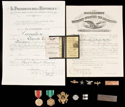 Archive relating to Claude Edward Duncan, an aviator with the U.S. Signal...