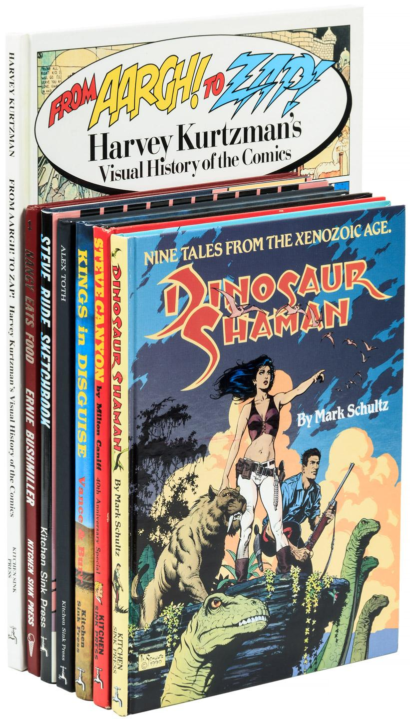 Seven volumes of comics published by Kitchen Sink Press - Price ...