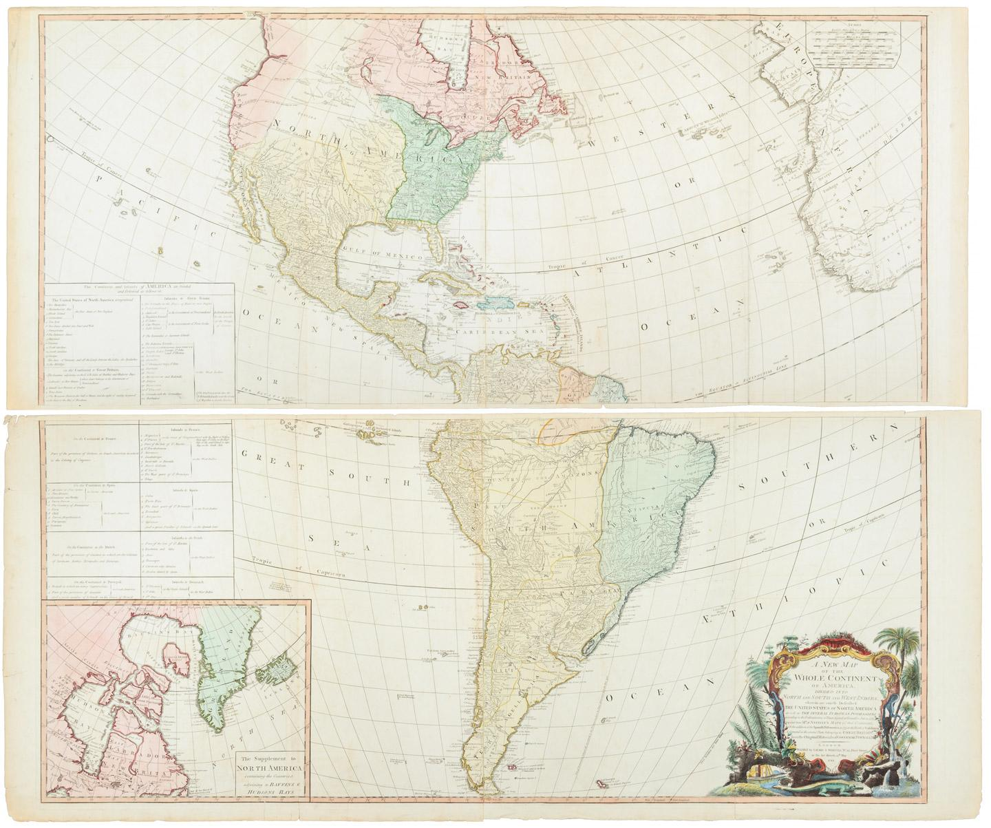 A new map of the whole continent of america divided into north and a new map of the whole continent of america divided into north and south and west indies wherein are exactly described the united states of north america gumiabroncs Choice Image