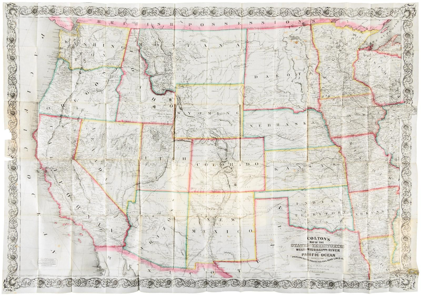 Colton\'s Map of the States and Territories West of the Mississippi ...