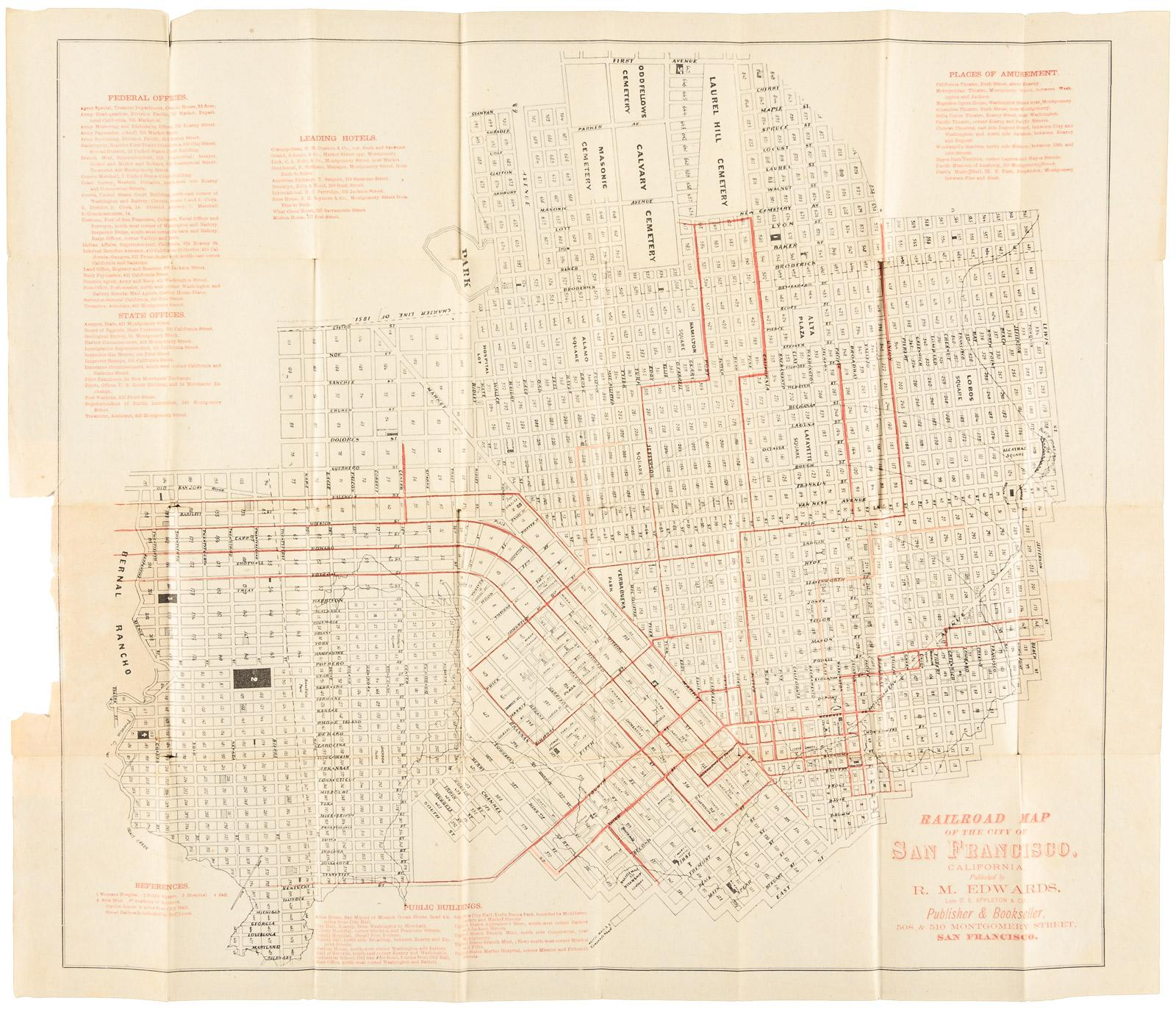 Railroad Map of the City of San Francisco California, Published by on