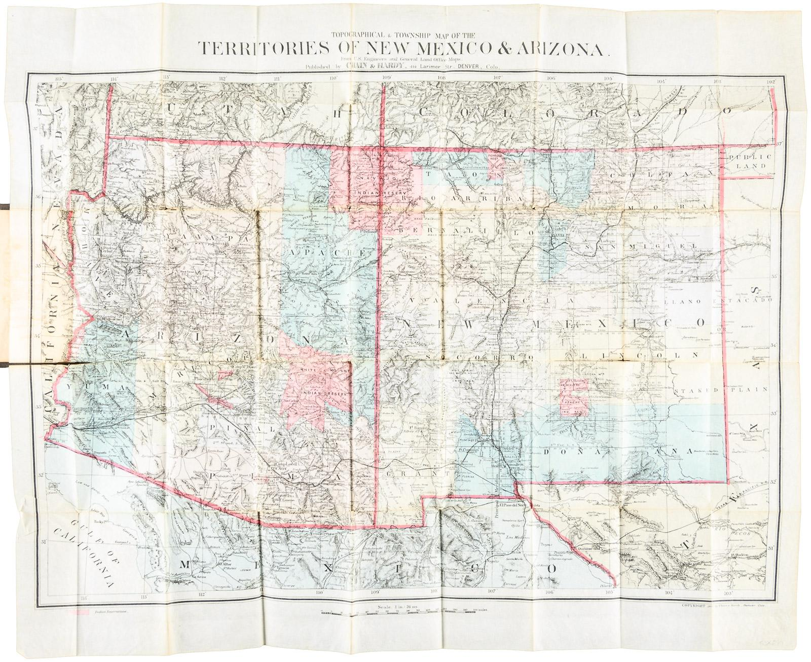 Topographical & Township Map of the Territories of New Mexico ...
