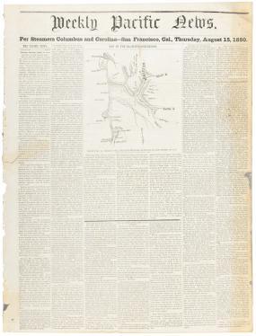 Map of the Klamath Gold Region, Drawn by H. Ehrenburg [sic], from...