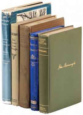 Five volumes by John Burroughs