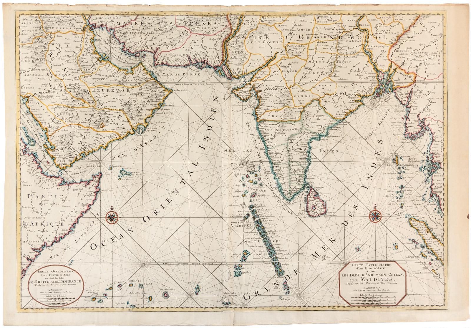 Carte Asie Maldives.Carte Particuliere D Une Partie D Asie Ou Sont Les Isles D Andemaon