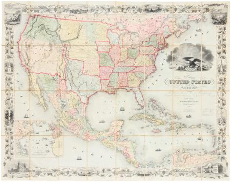 Map of the United States of America, The British Provinces, Mexico, the...